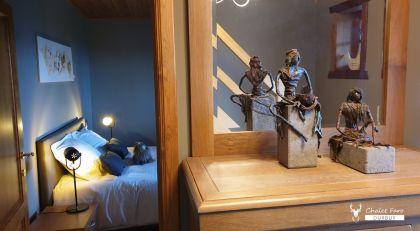 badkamer en slaapkamer chalet faro durbuy