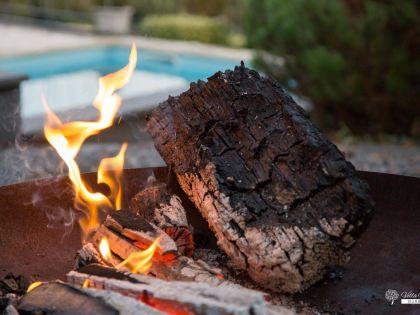 Fireplace en BBQ Villa Faro Durbuy